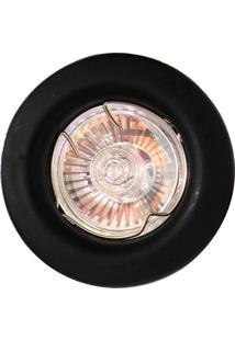 Spot Dicróica Fixo Aço Com Pintura Eletrostática Mr16 50W 220V Preto