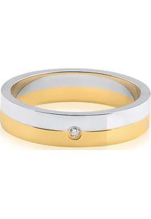 Aliança De Casamento Ouro Branco E Ouro Amarelo