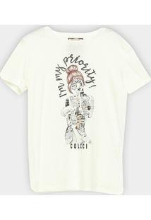 Camiseta Colcci I'M My Priority Feminina - Feminino