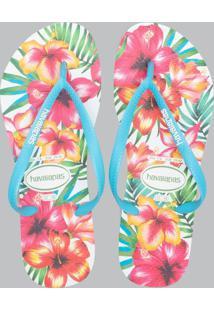 Chinelo Feminino Floral Slim Havaianas