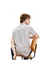 Lacoste - Camisa Masculina Manga Curta - Ch9984 - Branco / Verde Militar, 44 Branco