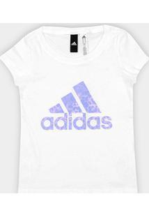 Camiseta Infantil Adidas Yb Logo Feminina - Feminino