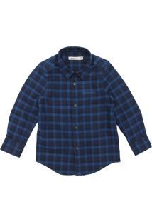 Camisa Calvin Klein Kids Xadrez Azul