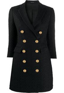 Tagliatore Annabelle Tweed Coat - Preto
