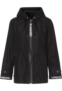 Burberry X Econyl® Logo Tape Jacket - Preto