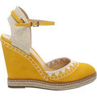 1ff5a6dd8 Sandália Anabela Nobuck Handmade Yellow | Schutz