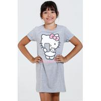 d1e288c61 Camisola Infantil Manga Curta Strass Hello Kitty