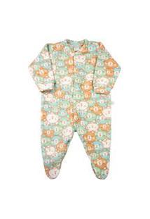 Macacão Pijama Bebê Ano Zero Microsoft Estampado 21 - Verde
