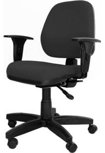 Cadeira Corporate Executiva Cor Preto Com Base Nylon - 43974 - Sun House