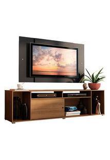 Rack Madesa Cancun E Painel Para Tv Até 58 Polegadas Rustic/Preto 5Z8N Cor:Rustic/Preto