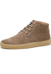 Bota Cano Curto Over Boots Desert Boot Camurã§A Rato - Bege/ - Masculino - Dafiti