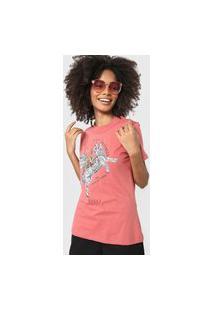 Camiseta Colcci Sinta A Natureza Rosa
