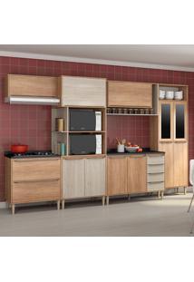 Cozinha Compacta C/Tampo Allure10 Fosco – Fellicci - Carvalho / Blanche