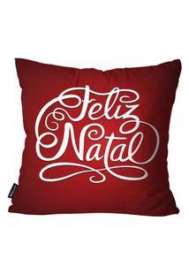 Capa Para Almofada Mdecor De Natal Feliz Vermelho