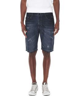 Bermuda Jeans Nicoboco Reta Angoon Azul