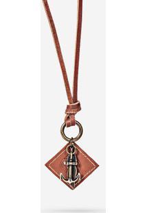 Colar Anchor 0311-Marrom-Único