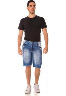 Bermuda Jeans Express Júnior Masculina - Masculino-Azul
