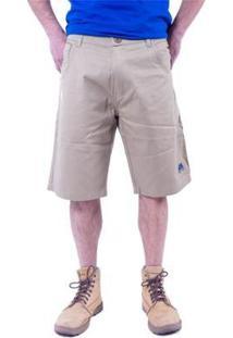 Bermuda Hipica Polo Club Color Five Poket Masculina - Masculino-Bege
