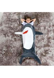 Cobertor Manta Infantil Saco De Dormir 1,40M X 60Cm - Tubarão