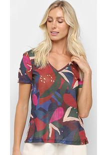 Camiseta Cantão Slim Canteiro Feminina - Feminino