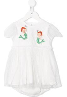 Stella Mccartney Kids Vestido Com Bordado De Sereia - Branco
