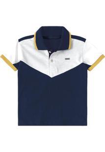 27a8e22362 Camisa Polo Bebê Tigor T. Tigre Masculina - Masculino-Marinho