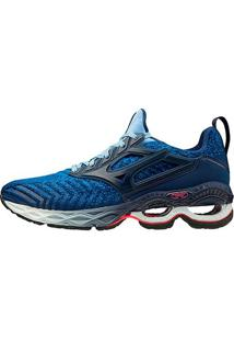 Tênis Mizuno Wave Creation Waveknit 2 - Masculino-Azul Escuro