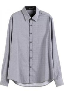 Camisa Masculina Slim Poás - Cinza Xg
