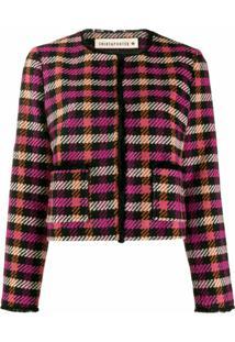Shirtaporter Jaqueta Cropped De Tweed - Preto