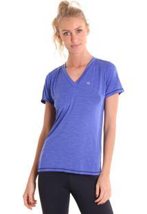 Camiseta Liquido Gola V Energy Roxa
