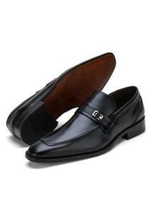 Sapato Social Fepo Store Couro Palmilha Almofadada Liso Preto