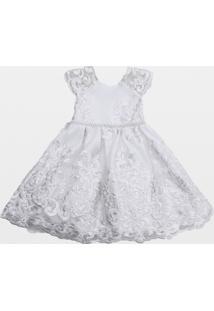 Vestido Laureh Bordado Artisan Branco
