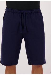 Bermuda Moletom Golf Collection Masculina - Masculino-Azul