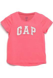 Camiseta Gap Infantil Logo Stars Pink