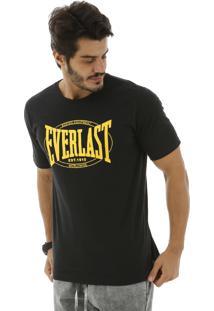 Camiseta Everlast Estampada Frente Preta