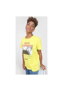 Camiseta Colcci Rock Landscape Amarela