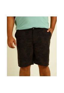 Bermuda Plus Size Masculina Sarja Estampada