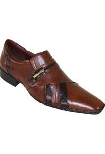 Sapato Social Gofer Premium - Masculino-Marrom