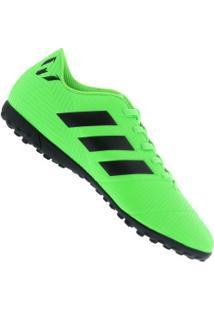 Chuteira Society Adidas Nemeziz Messi Tango 18.4 Tf - Adulto - Verde  Claro Preto 325e70be9240b
