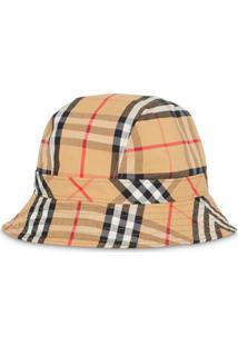 Burberry Vintage Check Cotton Bucket Hat - Marrom