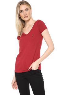 Camiseta Aleatory Básica Vermelha