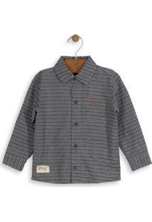 Camisa Tricoline Infantil Cinza