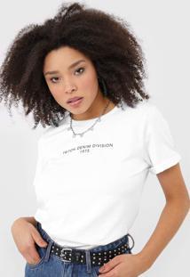 Camiseta Triton Lettering Branca - Branco - Feminino - Algodã£O - Dafiti