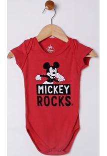 Body Disney Infantil Para Bebê Menino - Vermelho