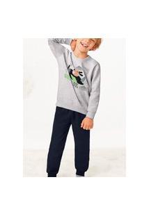 Pijama Malwee 1000077446 Infantil Cinza
