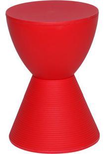 Banqueta Tube- Vermelha- 42,7Xø30Cm- Or Designor Design