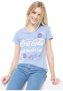 Camiseta Coca-Cola Jeans Lettering Azul