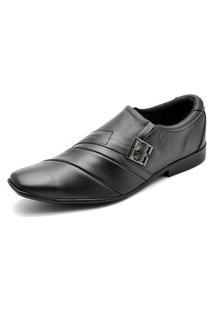 Sapato Social Couro Top Franca Shoes Preto