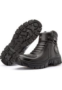 Bota Segurança Motoqueiro Jhon Boots Masculina Adventure Preta
