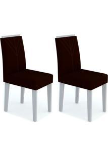 Conjunto Com 2 Cadeiras Amanda I Off White E Preto